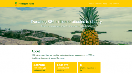 Pineapple Fund geeft $1.000.000 in BTC aan Internet Archive